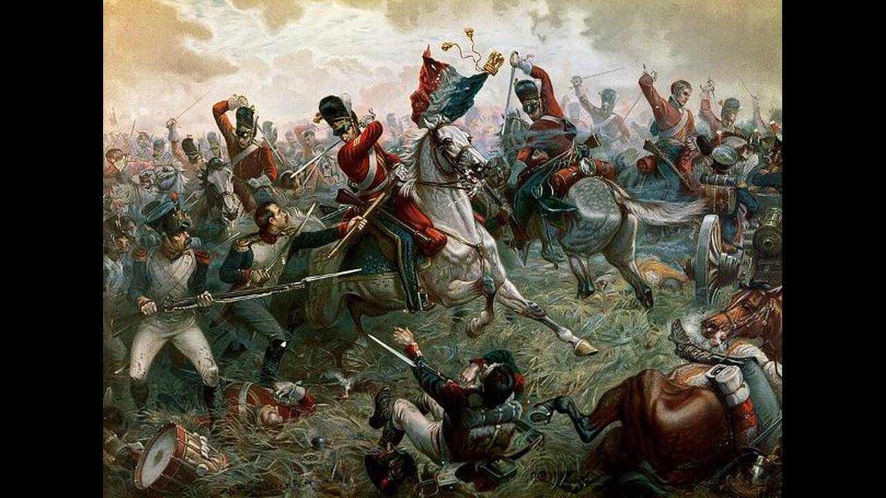 1815. Στο Βατερλό, του σημερινού Βελγίου, γίνεται η διασημότερη ίσως μάχη της ιστορίας. Οι ενωμένες δυνάμεις Βρετανών και Πρώσων, υπό τους στρατηγούς Ουέλινγκτον και Μπλίχερ αντίστοιχα, συντρίβουν τις γαλλικές δυνάμεις, των οποίων ηγείται ο αυτοκράτορας Ν