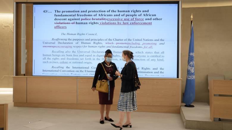Χωρίς αναφορά στις ΗΠΑ το ψήφισμα του ΟΗΕ που καταδικάζει τον συστημικό ρατσισμό