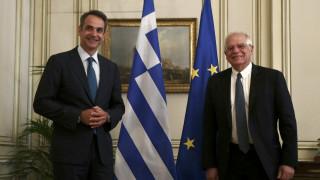 Μπορέλ σε Μητσοτάκη: Θα προστατέψουμε τα ελληνικά και ευρωπαϊκά εξωτερικά σύνορα
