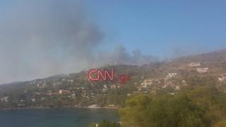 Υπό μερικό έλεγχο η πυρκαγιά στην Αίγινα