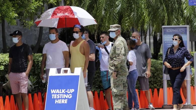 Κορωνοϊός – Φλόριντα: Ρεκόρ ημερήσιων κρουσμάτων - Ξεπέρασαν τα 10.000
