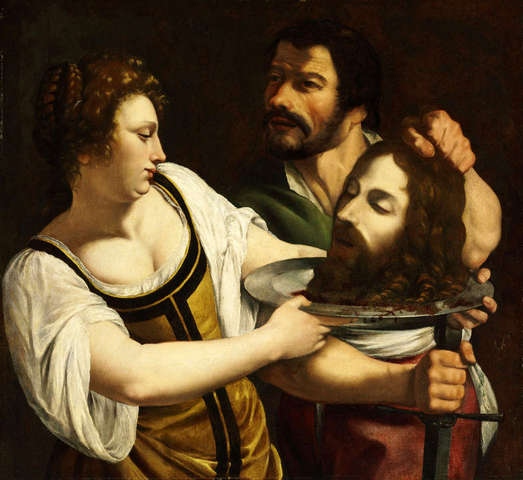 Salome with the Head of Saint John the Baptist by Artemisia Gentileschi ca. 1610 1615