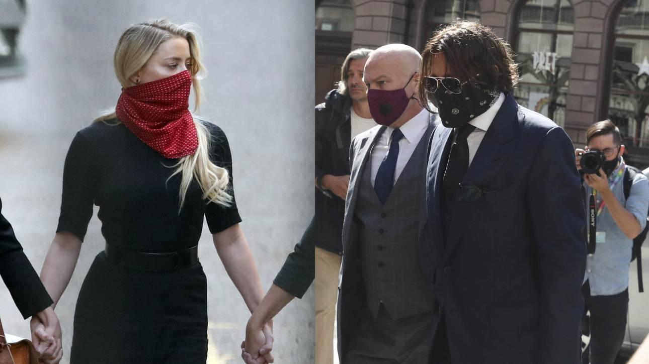 Τζόνι Ντεπ και Άμπερ Χερντ: Με μάσκες στο δικαστήριο - Οι αλληλοκατηγορίες συνεχίζονται