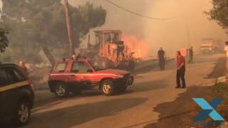 Φωτιά Σάπες: «Επικίνδυνο το μέτωπο νότια του οικισμού Ποντίων» λέει ο δήμαρχος στο CNN Greece