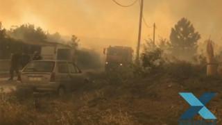Φωτιά Σάπες: Απομακρύνθηκε ο κίνδυνος για τον οικισμό Ποντίων - Ολονύχτια μάχη με τις φλόγες