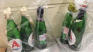 Βόμβες μολότοφ εντόπισε η Αστυνομία στο Σύνταγμα - Δείτε τις φωτογραφίες
