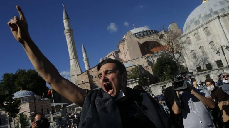 Αγία Σοφία: Προκλητικό tweet του τουρκικού υπουργείου Πολιτισμού