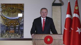Προκλητικός ο Ερντογάν: Η μετατροπή της Αγίας Σοφίας σε τζαμί ήταν αίτημα του έθνους