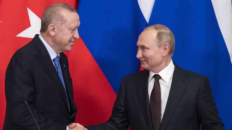 Τηλεφωνική επικοινωνία Πούτιν - Ερντογάν για την Αγία Σοφία