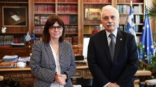 Συνάντηση του Προέδρου του Ε.Ε.Σ. με την Πρόεδρο της Δημοκρατίας