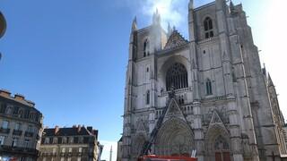 Συναγερμός στη Γαλλία: Φωτιά σε καθεδρικό ναό στη Νάντη