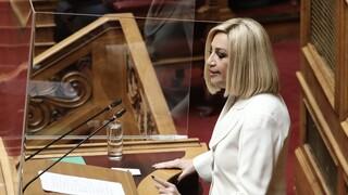 Γεννηματά: Oι κυρώσεις ΕΕ κατά Τουρκίας έπρεπε ήδη να είχαν συζητηθεί και επιβληθεί