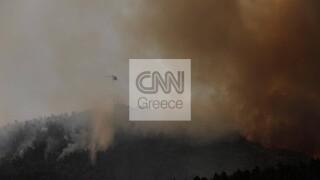 Φωτιά στις Κεχριές: Ανεξέλεγκτη η κατάσταση - Νέες εκκενώσεις