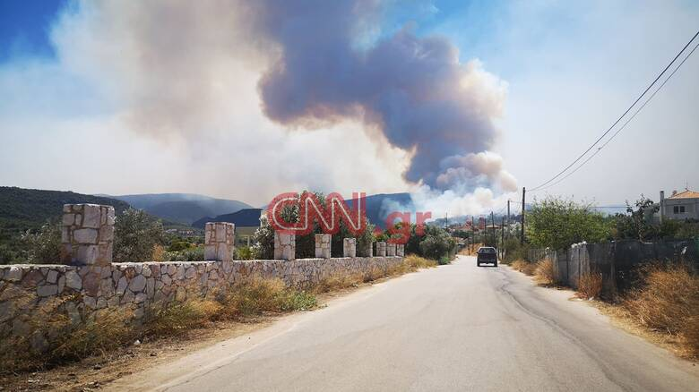 Φωτιά στις Κεχριές: Δηλώσεις του αρχηγού της Πυροσβεστικής στο CNN Greece