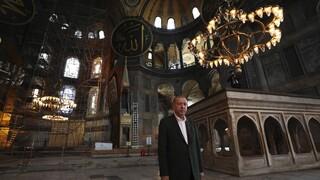 Αγία Σοφία: Nέα επιθεώρηση Ερντογάν – Η ταμπέλα πλέον γράφει «μεγάλο τζαμί»