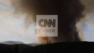 Φωτιά στις Κεχριές: Δύσκολη η «μάχη» με τις φλόγες - Eνεργοποιήθηκε η υπηρεσία Copernicus