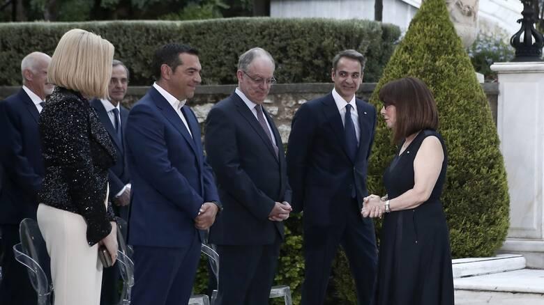 Ελληνοτουρκικά και Αγία Σοφία στις συζητήσεις στη δεξίωση του Προεδρικού Μεγάρου