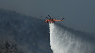 Φωτιά στις Κεχριές: Αυξημένες δυνάμεις της πυροσβεστικής συνεχίζουν την «μάχη»