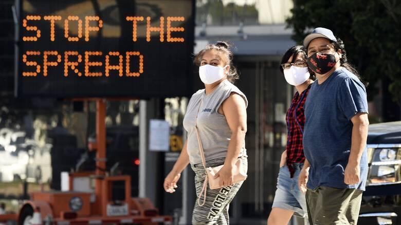 Κορωνοϊός: Ελαφρώς καλύτερη η εικόνα στις ΗΠΑ - Σε χαμηλό δύο εβδομάδων τα κρούσματα