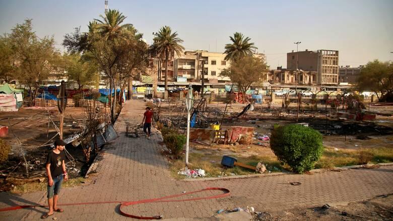 Βαγδάτη: Δύο διαδηλωτές σκοτώθηκαν σε συγκρούσεις στην πλατεία Ταχρίρ
