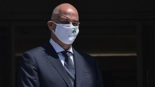 Δένδιας: Με μάσκα του Παναθηναϊκού υποδέχθηκε την Ισπανίδα ΥΠΕΞ