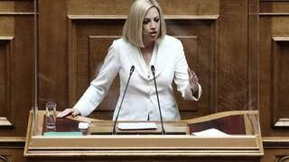 Γεννηματά: Καλώ τον πρωθυπουργό να στηρίξει την τροπολογία του ΚΙΝΑΛ για την προστασία α' κατοικίας