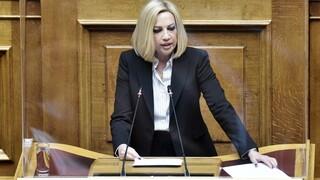Γεννηματά για υπουργικό: Η ανασυγκρότηση στην οικονομία δεν μπορεί να γίνει επί ερειπίων