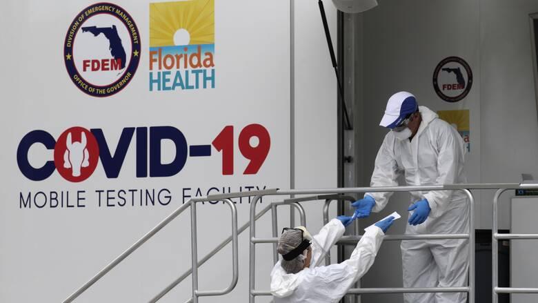 Κορωνοϊός - ΗΠΑ: Ρεκόρ θανάτων στη Φλόριντα για τέταρτη συνεχόμενη ημέρα