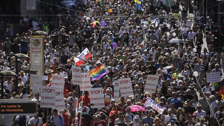 Διαδηλώσεις... άρνησης του κορωνοϊού σήμερα στο Βερολίνο