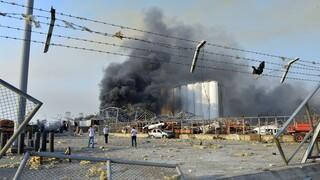 Η στιγμή της έκρηξης στη Βηρυτό
