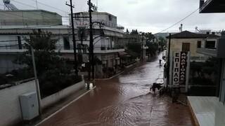 Πλημμύρες στην Εύβοια: Δύο νεκροί, εγκλωβισμένοι πολίτες και καταστροφές