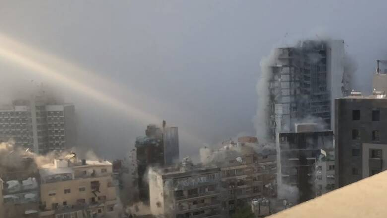 Λίβανος: Συγκλονιστικό βίντεο δείχνει σε αργή κίνηση τις εκρήξεις στη Βηρυτό