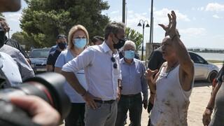 Αυτοψία Μητσοτάκη στην Εύβοια: «Η Πολιτεία θα σταθεί σε όσους έχασαν τις περιουσίες τους»