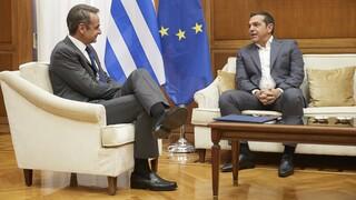 Τηλεφωνικές επαφές Μητσοτάκη με τους πολιτικούς αρχηγούς για την Αν. Μεσόγειο