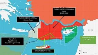 Oruc Reis: Νέος προκλητικός χάρτης από το τουρκικό ΥΠΕΞ