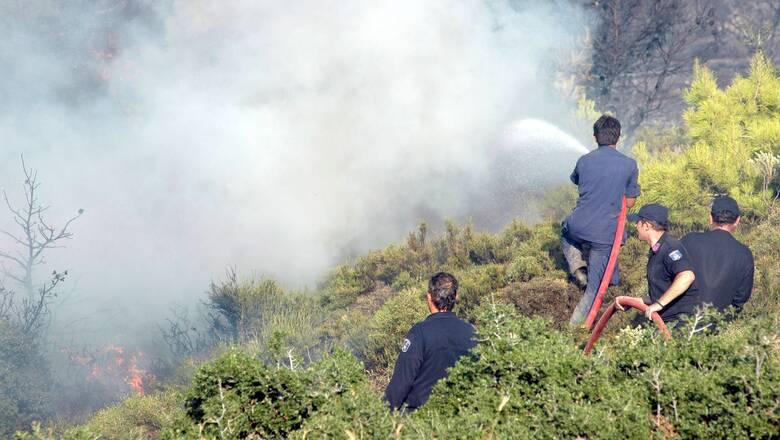 Χανιά: Πυρκαγιά στα νότια της Περιφερειακής Ενότητας