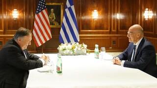 Παρουσία των ΗΠΑ στην Ανατολική Μεσόγειο ζήτησε ο Δένδιας από τον Πομπέο