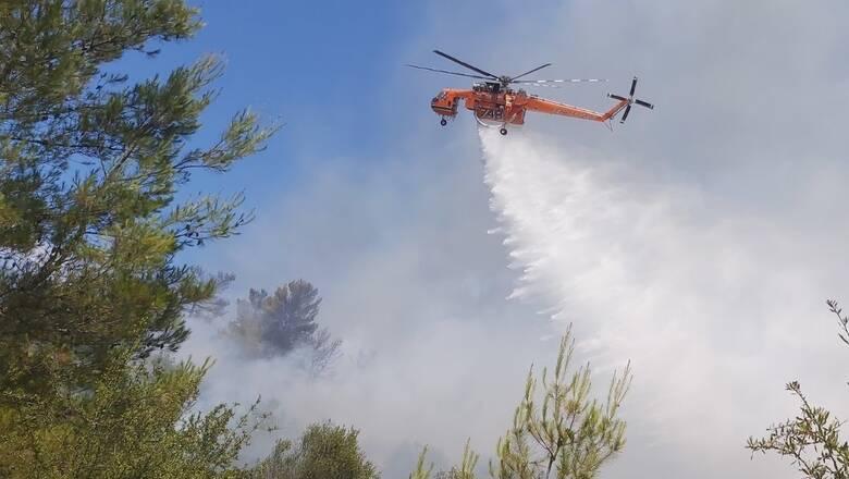 Υπό μερικό έλεγχο οι δασικές πυρκαγιές σε ολόκληρη τη χώρα