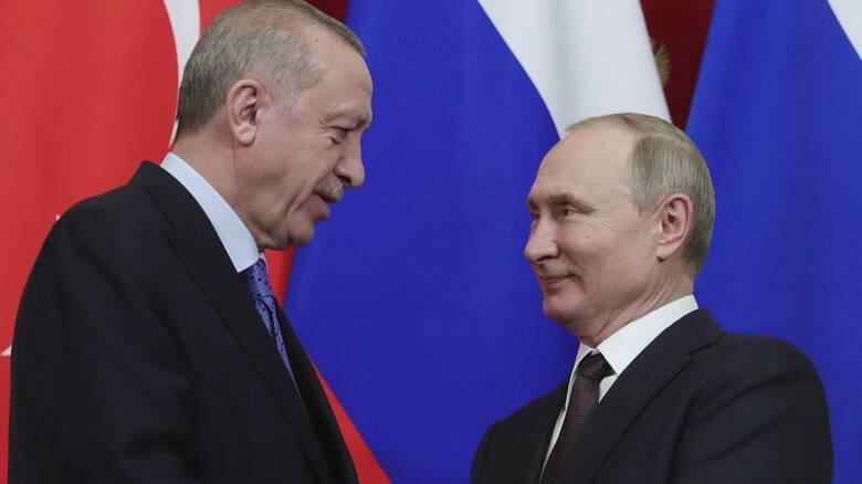 Τηλεφωνική επικοινωνία Πούτιν – Ερντογάν
