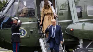 Η αμήχανη στιγμή που η Μελάνια αποφεύγει το χέρι του Τραμπ (vid)
