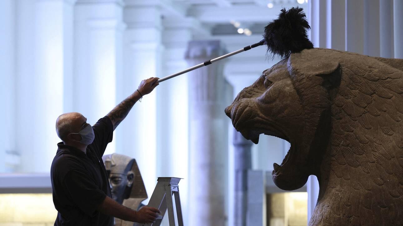 Το Βρετανικό Μουσείο καθαρίζεται - Πρόκειται να ανοίξει ξανά στις 27 Αυγούστου