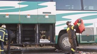 Στις φλόγες λεωφορείο του ΚΤΕΛ με 39 επιβάτες
