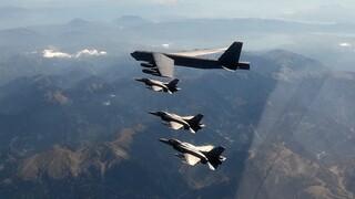 Τουρκικά μαχητικά παρενόχλησαν ελληνικά F-16 που συνόδευαν βομβαρδιστικό αεροσκάφος των ΗΠΑ