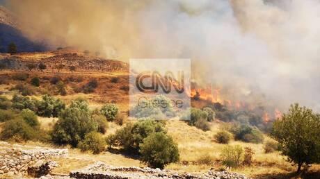 Εικόνες από τη φωτιά στον αρχαιολογικό χώρο των Μυκηνών