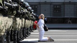 Λευκορωσία: Εκατοντάδες συλλήψεις διαδηλωτών που ζητούν την παραίτηση Λουκασένκο