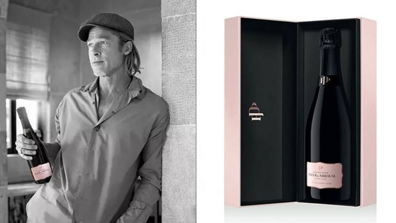 Fleur de Miraval: Ο Μπραντ Πιτ παρουσιάζει τη δική του ροζέ σαμπάνια