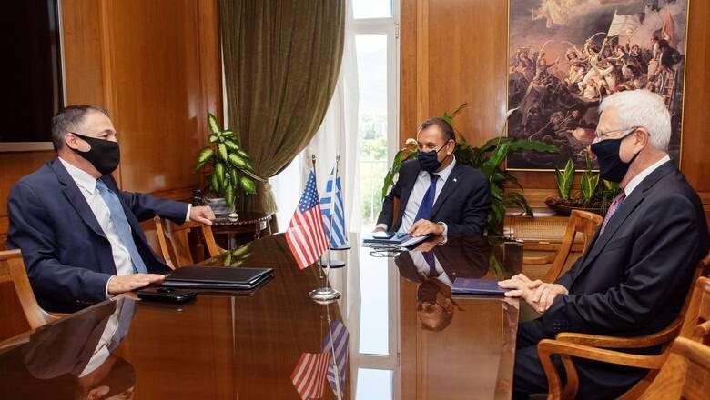 Συνάντηση Παναγιωτόπουλου με τον ομογενή γερουσιαστή των ΗΠΑ, Ραπτάκη