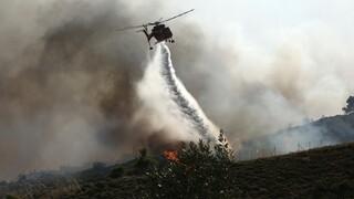 Σε ύφεση η φωτιά στην Κεφαλονιά - Πολύ υψηλός κίνδυνος πυρκαγιών και σήμερα