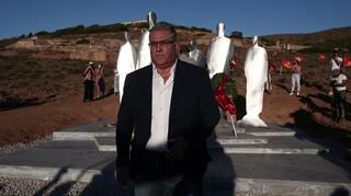 Tο μνημείο των αγωνιστών εγκαινίασε στη Μακρόνησο ο γγ του ΚΚΕ, Δημήτρης Κουτσούμπας