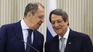 Συνάντηση Λαβρόφ - Αναστασιάδη: Η Ρωσία είναι έτοιμη να συμβάλει σε διάλογο